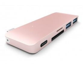 Satechi Typ-C USB Passthrough hub Rose Gold