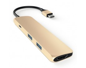 Satechi USB-C Multiport adapter 4K HDMI Gold