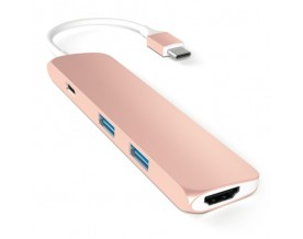 Satechi USB-C Multiport adapter 4K HDMI Rose Gold